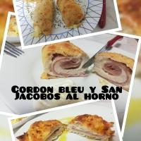 Cordon bleu y San Jacobos de pollo al horno
