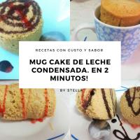 Mug Cake de Leche Condensada. En 2 minutos! + Truco para que salga perfecto