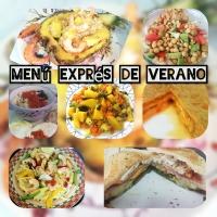 MENÚ SEMANAL EXPRÉS DE VERANO (Nº 3) Platos Únicos en 15 minutos