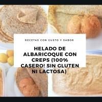 Helado casero de Albaricoque con Crepes de Tapioca y Semillas - Sin gluten Ni lactosa