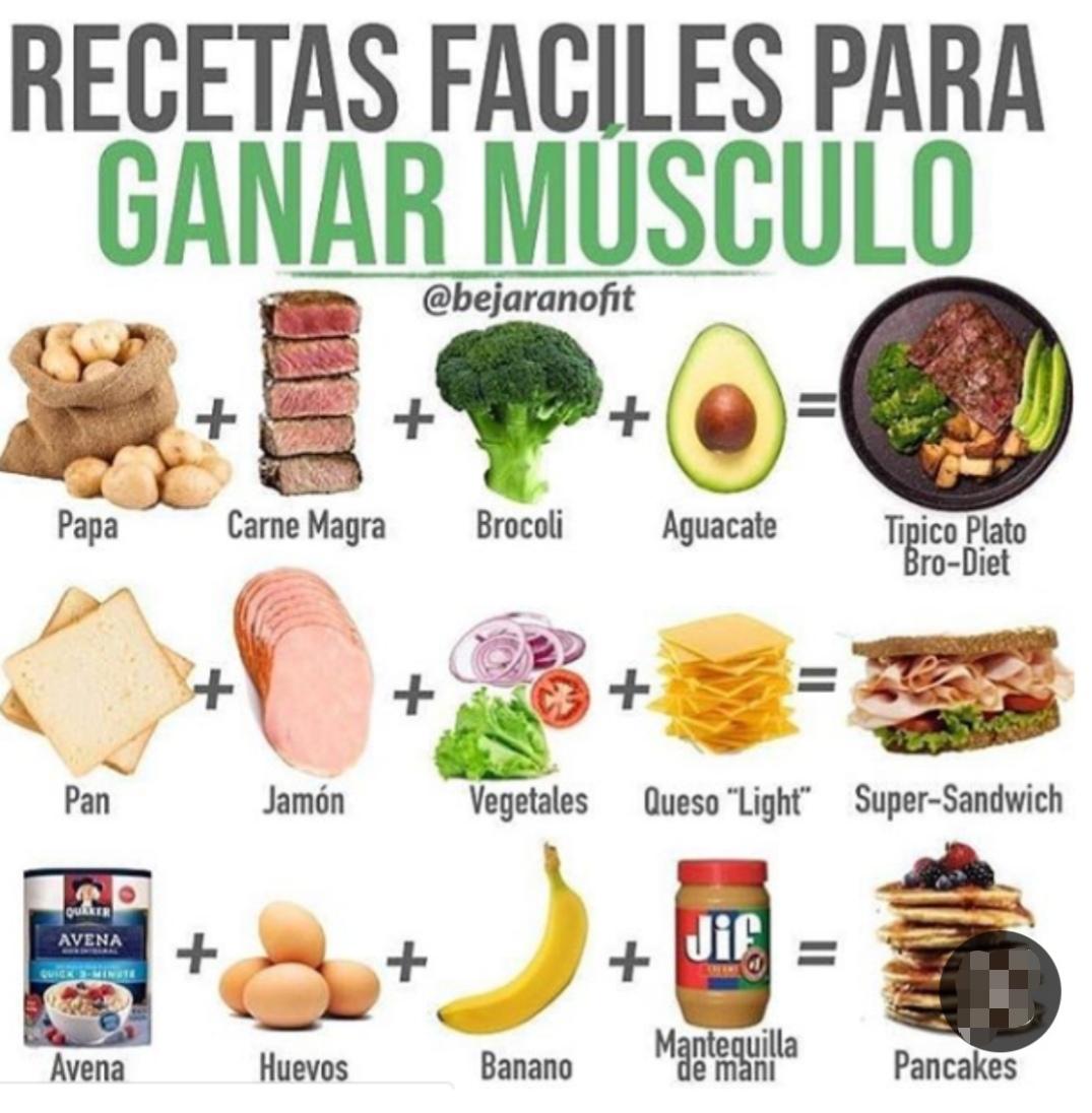 Que alimentos consumir para ganar masa muscular
