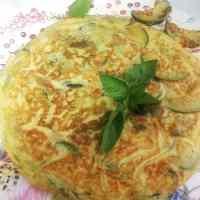 Tortilla de Calabacín a la Albahaca